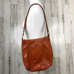 Latico leather hobo bag with braided leather strap